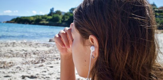 sound therapy on a beach